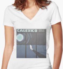 Calexico Edge of the sun LP Sleeve artwork fan art Women's Fitted V-Neck T-Shirt
