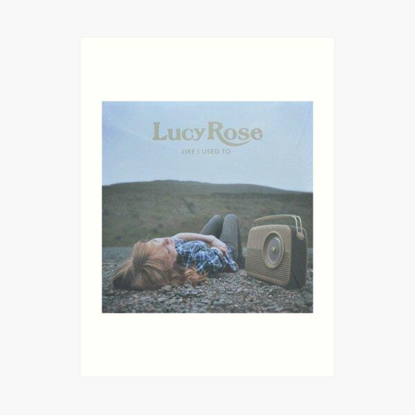 Lucy Rose - like i used to LP Sleeve artwork Fan art Art Print