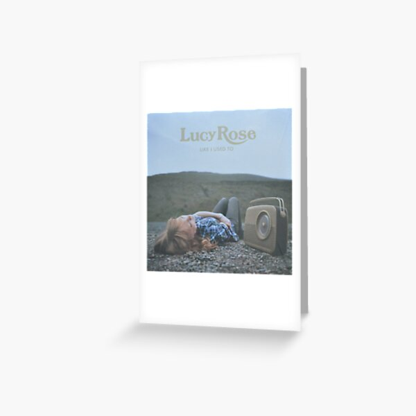 Lucy Rose - like i used to LP Sleeve artwork Fan art Greeting Card