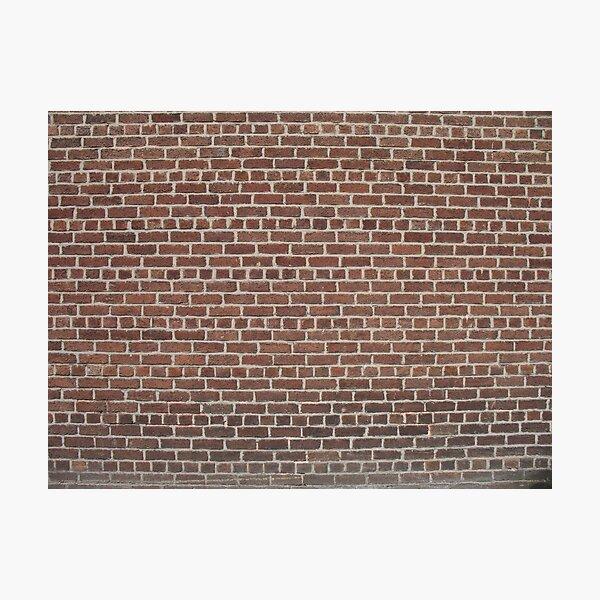 Bricks 2 Photographic Print