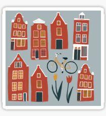 Amsterdam houses  Sticker