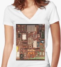Mac Book Pro 15 inches Women's Fitted V-Neck T-Shirt