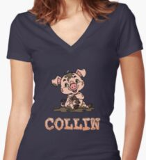 Collin Piggy Women's Fitted V-Neck T-Shirt