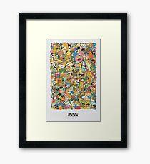 Cartoon Network Collage Framed Print