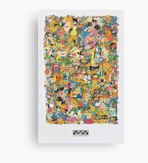 Cartoon Network Collage Canvas Print