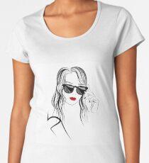 Graphic image of girl in sunglasses  Women's Premium T-Shirt