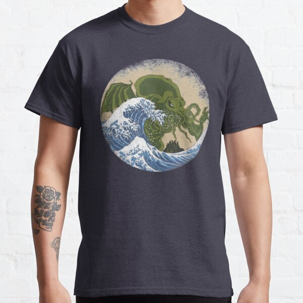 Hokusai Cthulhu Classic T-Shirt