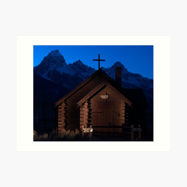 Lightpainting Chapel of the Transfiguration Art Print