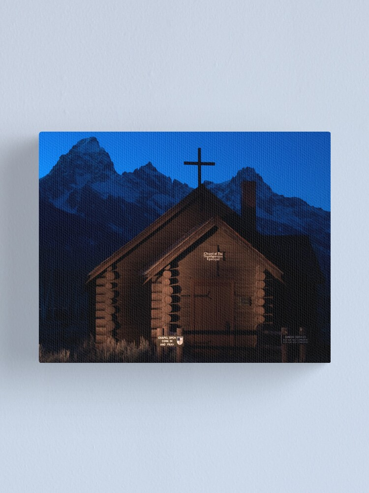 Alternate view of Lightpainting Chapel of the Transfiguration Canvas Print