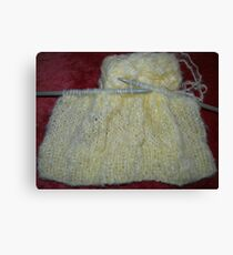 Knitting Canvas Print