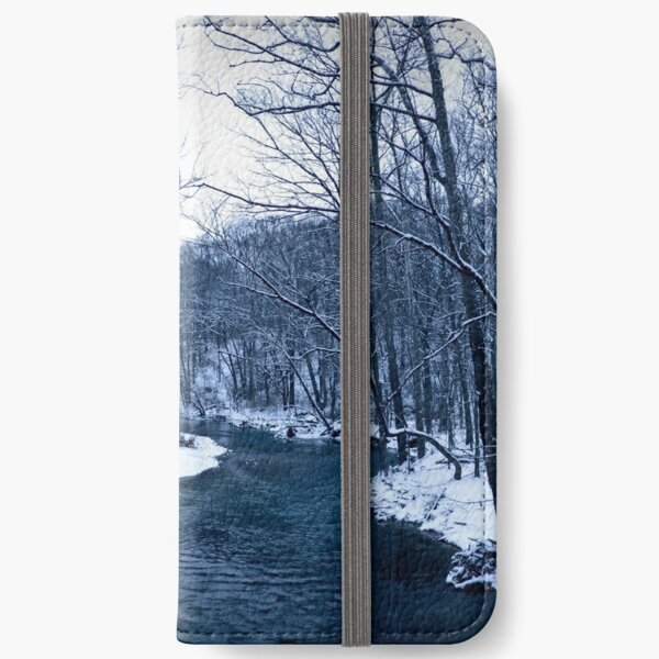 Moody River of Winter iPhone Wallet