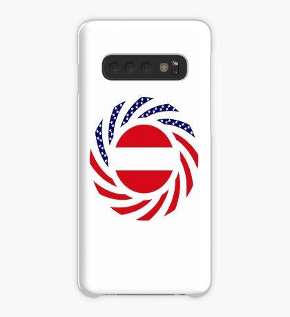 Austrian American Multinational Patriot Flag Series Case/Skin for Samsung Galaxy