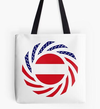 Austrian American Multinational Patriot Flag Series Tote Bag