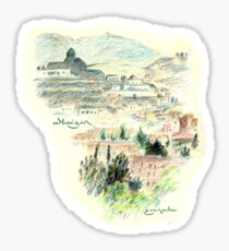 Granada · Vista del Albaicín al amanecer Pegatina