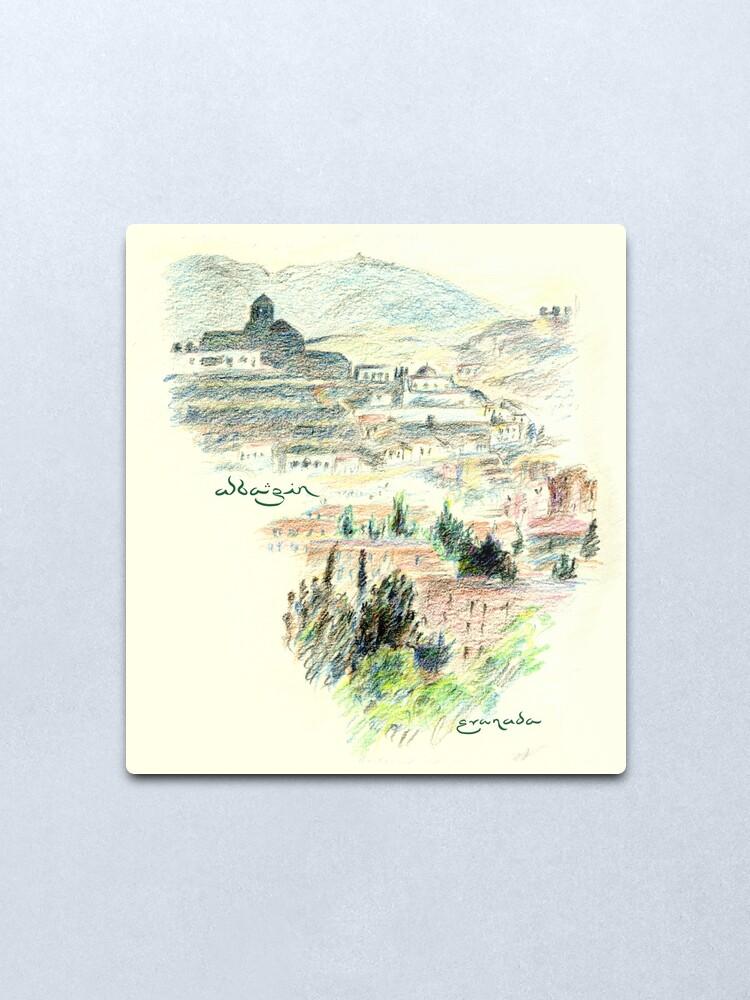 Alternate view of Granada · View of the Albaicín at dawn Metal Print