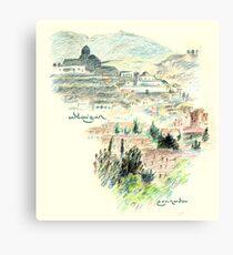 Granada · Vista del Albaicín al amanecer Lienzo
