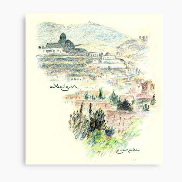 Granada · View of the Albaicín at dawn Metal Print