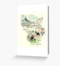 Granada · Vista del Albaicín al amanecer Tarjeta de felicitación