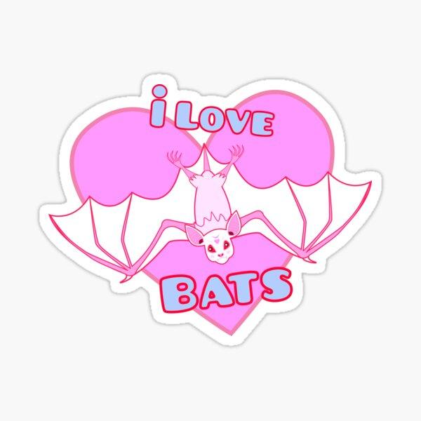 I Love Bats Sticker