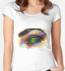 Reptile eye Women's Fitted Scoop T-Shirt