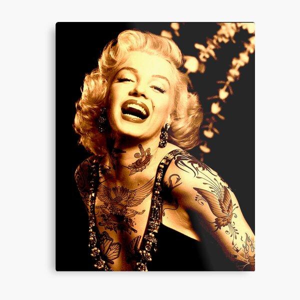 MARILYN : As a Tattooed Lady Print Metal Print