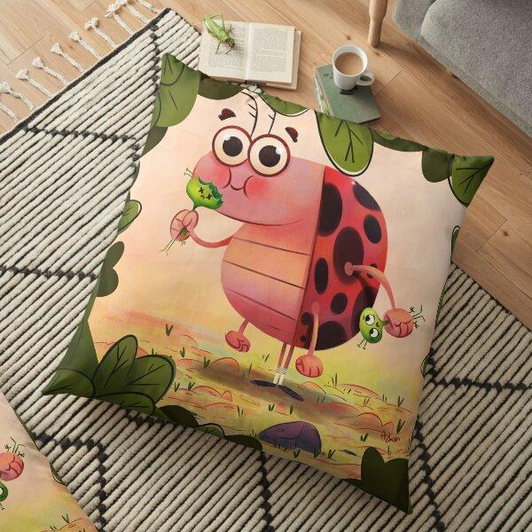 Hungry ladybird. Floor Pillow