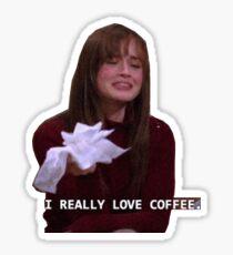 rory gilmore - i really love coffee Sticker