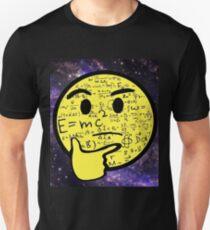 Thinking Emoji - Math, Physics, Space, E =mc², Nerdy, Geeky Unisex T-Shirt