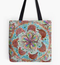 mandala - chickens Tote Bag
