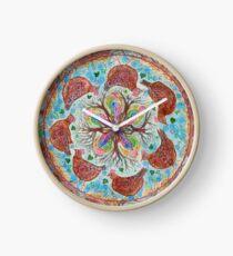 mandala - chickens Clock