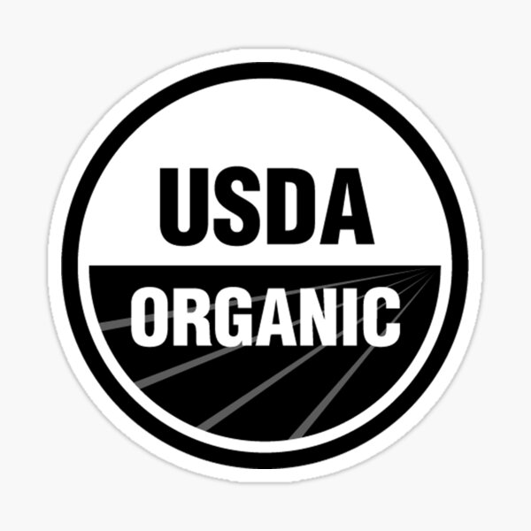 USDA Organic Logo Black and White Sticker