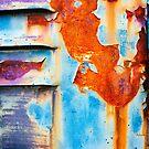 Rusty and peeling metal 2 by Silvia Ganora