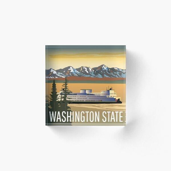 Washington State Ferry Acrylic Block