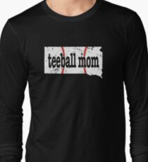South Dakota Teeball Mom T Shirt Ball Moms Shirt Long Sleeve T-Shirt
