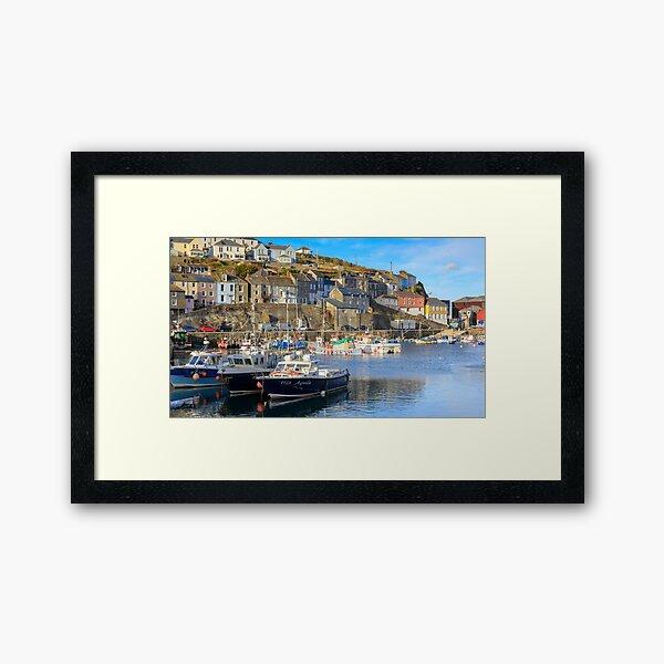 Evening in Mevagissey Harbour   Cornwall Framed Art Print