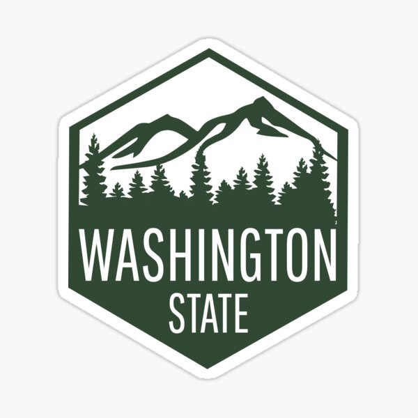 Washington State Badge Sticker