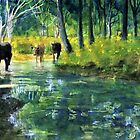 Streaming Cows by Randy Sprout