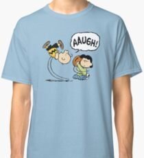 CHARLIE BROWN AND LUCY FOOTBALL Classic T-Shirt