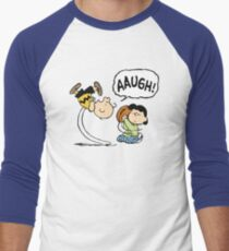 CHARLIE BROWN AND LUCY FOOTBALL Men's Baseball ¾ T-Shirt