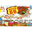 route 66, Chicago to Los Angeles, Mississippi, grand canyon, petrified forrest, by coralZ