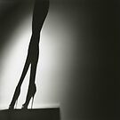 Female nude silhouette medium format Hasselblad silver gelatin by edwardolive