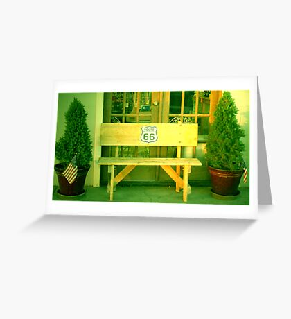 ROUTE 66 BENCH Greeting Card