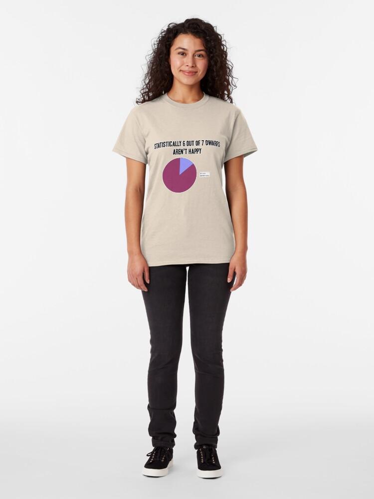 Alternate view of Dwarf statistics Classic T-Shirt