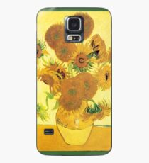 Van Gogh's Sunflowers in a Vase Case/Skin for Samsung Galaxy