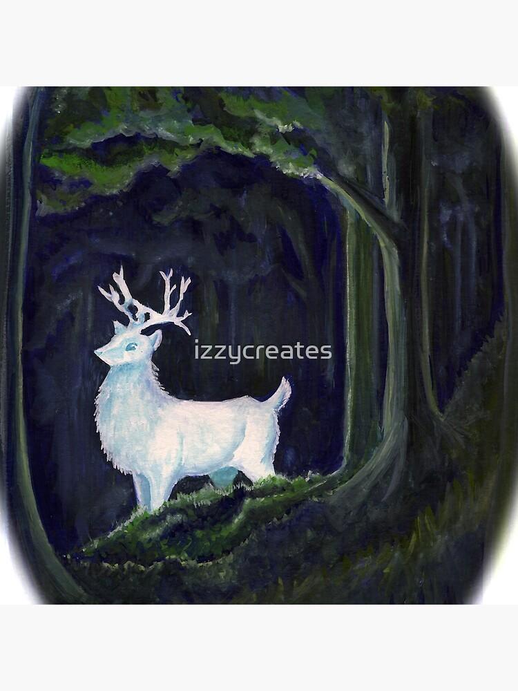 weißer Hirsch von izzycreates