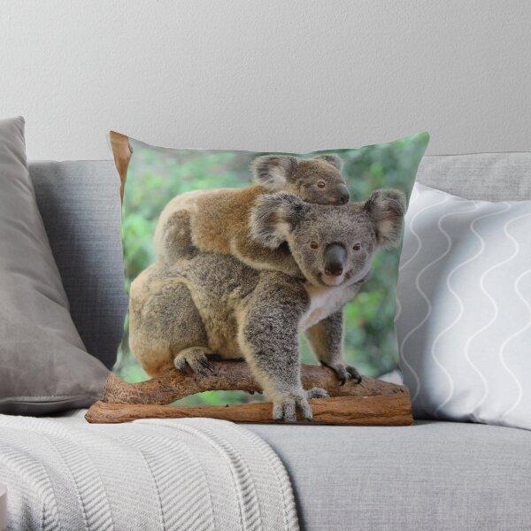 Koala and joey Throw Pillow