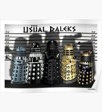 The Usual Daleks Poster