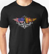 Sri Lankan American Flag USA Sri Lanka Unisex T-Shirt