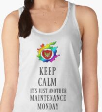 Keep Calm Maintenance Monday Black Women's Tank Top