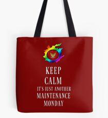 Keep Calm Maintenance Monday White Tote Bag